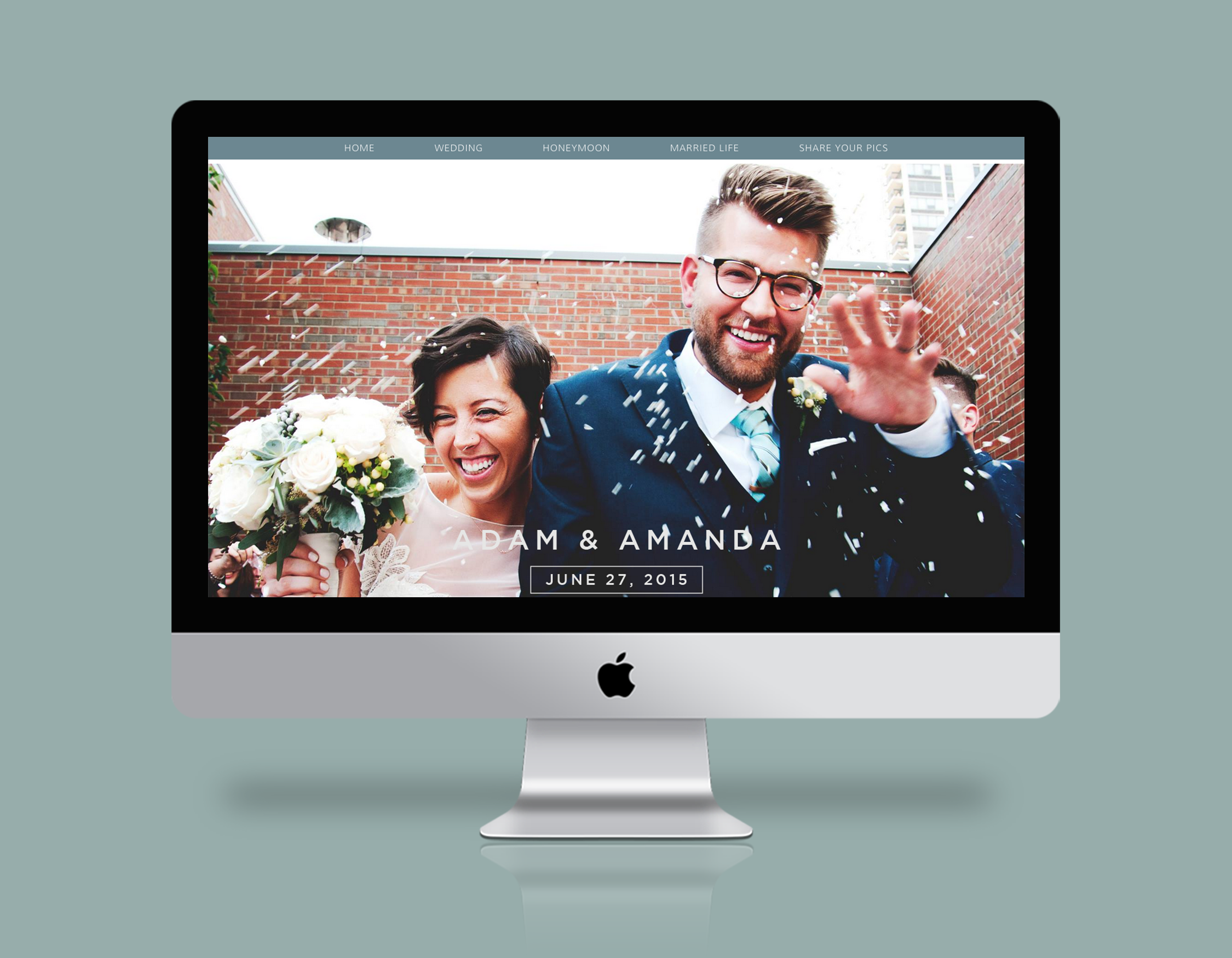 Wedding website design and development for WordPress. #wedding #wordpress Adam-and-amanda.com