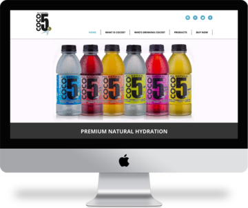 Responsive web design for CoCo5 all natural coconut water. coco5.com