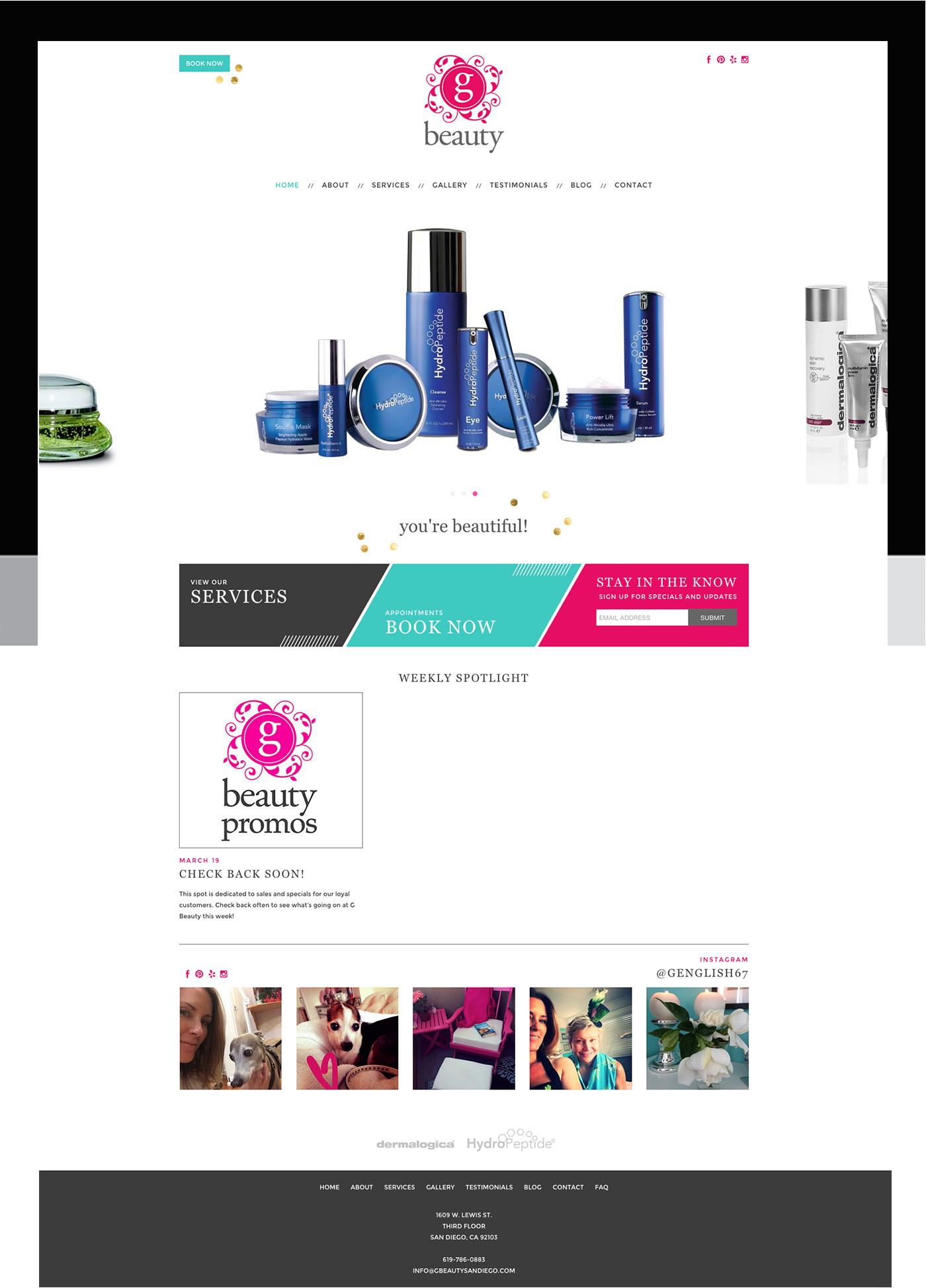 Wordpress blog and website for G Beauty Skincare. #wordpress gbeautysandiego.com