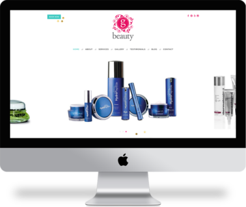 Wordpress blog and website for G Beauty Skincare. #wordpress gbeautysandiego.com