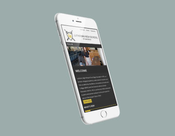 Responsive Wordpress website design for Lutheran High School of San Diego