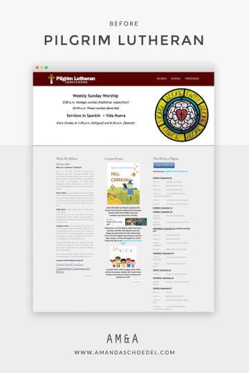 Before: Pilgrim Lutheran Church and School website / pilgrimcv.org