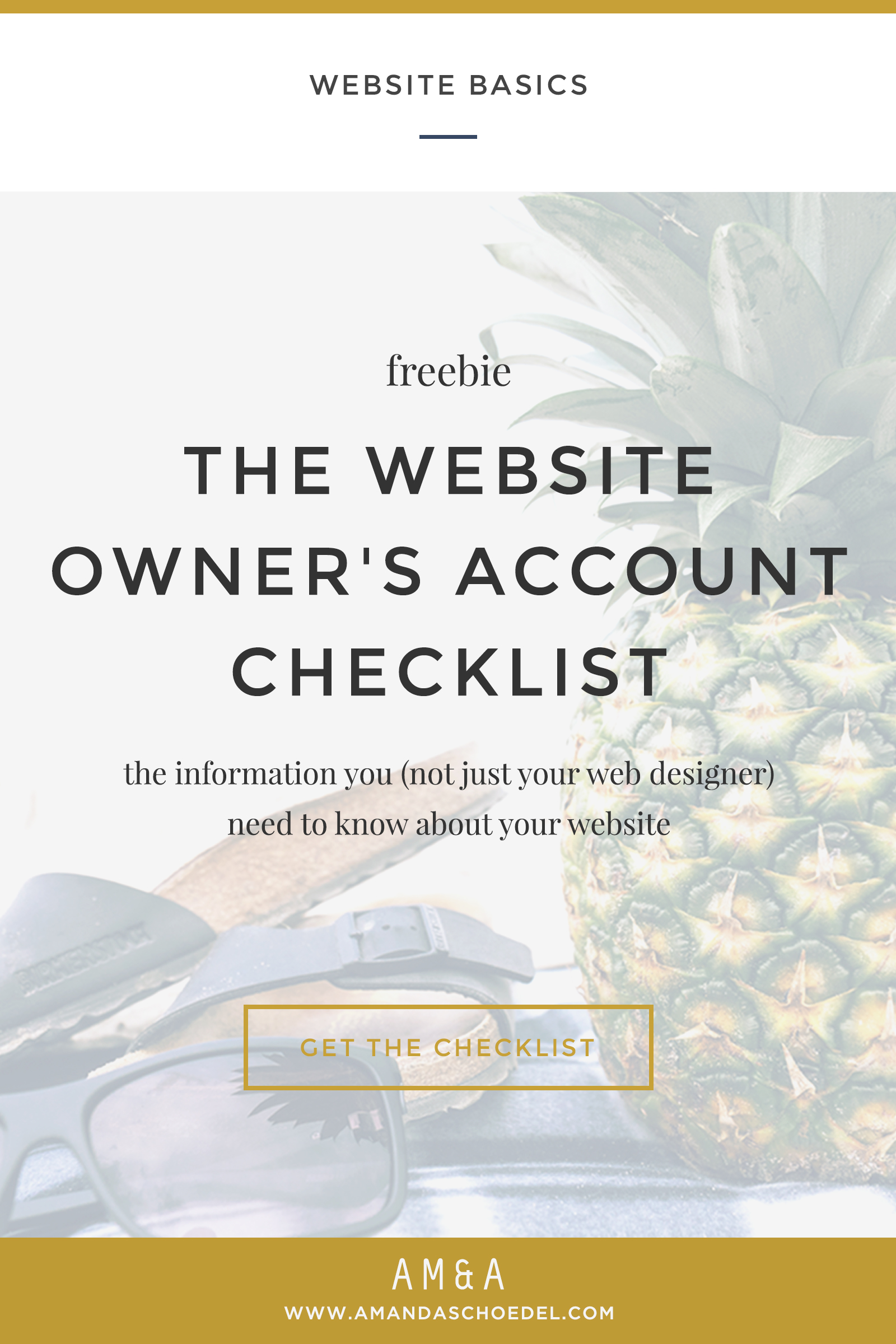 The Complete Account Checklist for Website Owners // Amanda Schoedel Creative
