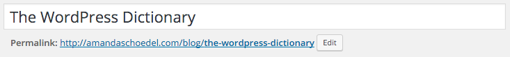 WordPress post slugs