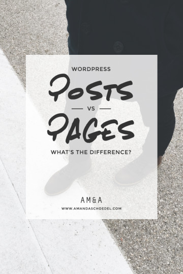 The Difference Between Wordpress Posts and Pages