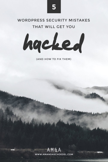 5 WordPress security mistakes that will get you hacked // Learn the 5 biggest security mistakes you didn't know you were making. These mistakes can leave your WordPress blog or website vulnerable to hackers. But don't worry, there are 5 quick fixes you can do today to lock down your site. Click to learn more!