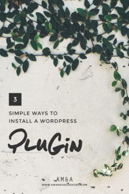 How to Install a WordPress Plugin // If you use WordPress plugins are your best friend. This tutorial walk you through 3 easy ways to install a plugin on your WordPress blog or website. This is one WordPress tip you NEED in your arsenal. Click to read.