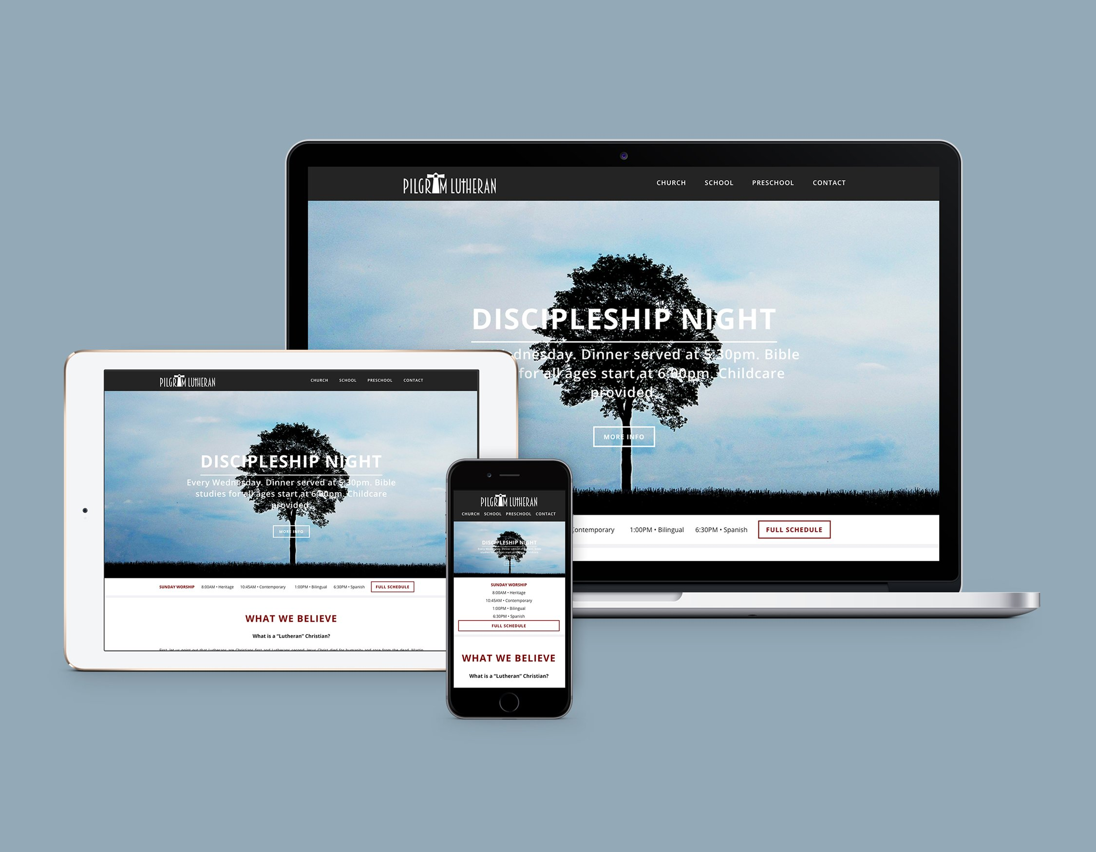 Website design for church and school