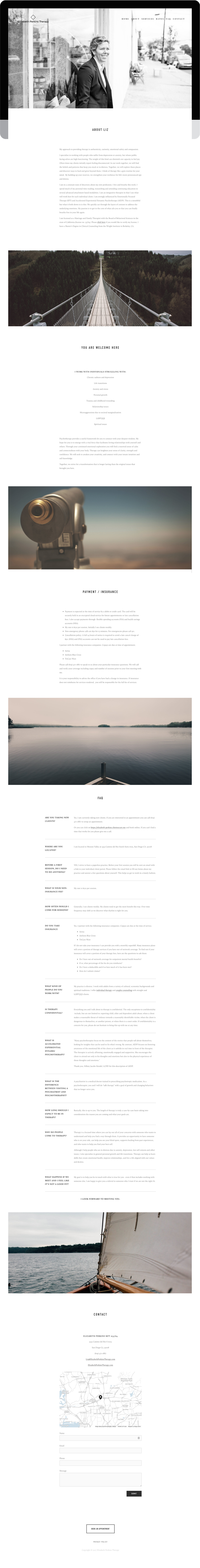 Therapist website design and development for Squarespace.