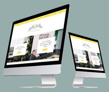Hello Yellow WordPress blog design
