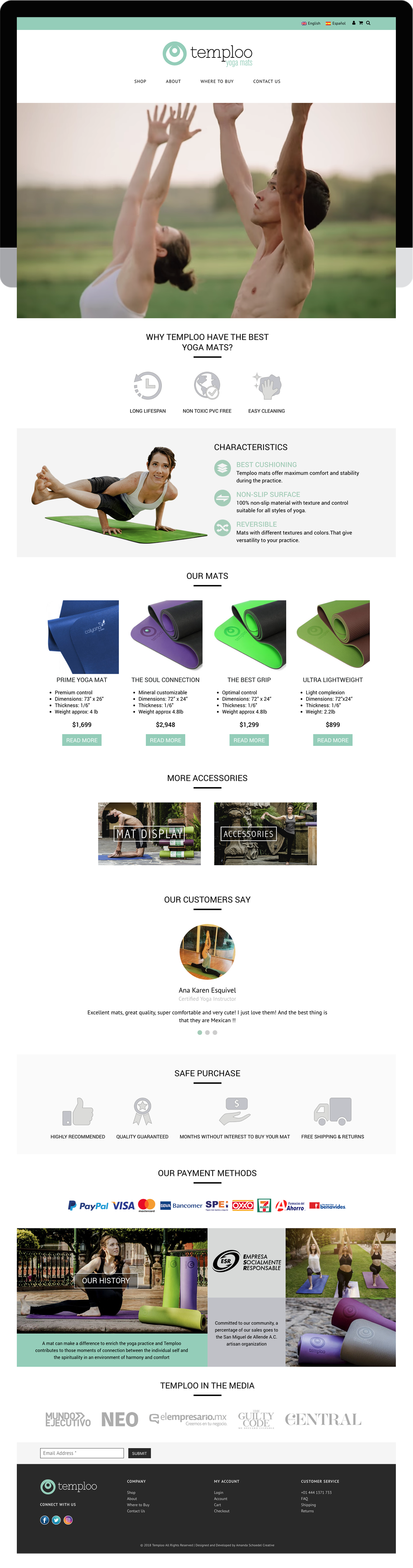 E-commerce design and development built with WordPress and WooCommerce